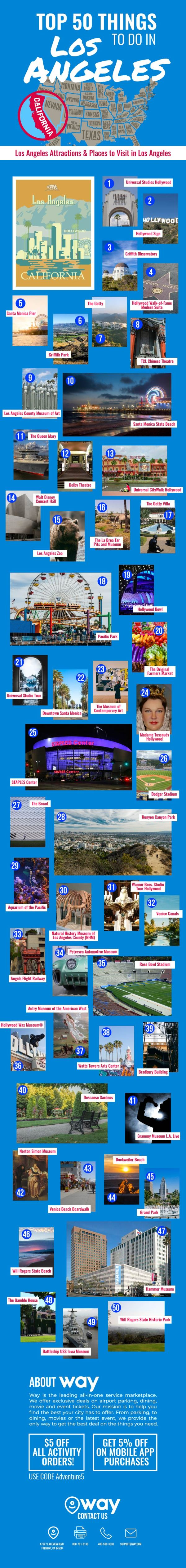 Top 50 Things to Do in Los Angeles-infographic-lkrllc