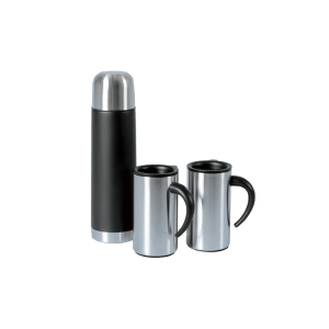 126-44 Flask plus 2 Cups gift set Stainless Steel