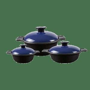 Chef Supreme Value Pack (3 x Casseroles-Blue)