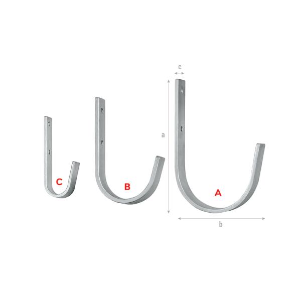 Flat-steel Curved Hooks-A-C