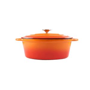 160-050 - orange oval casserole 1