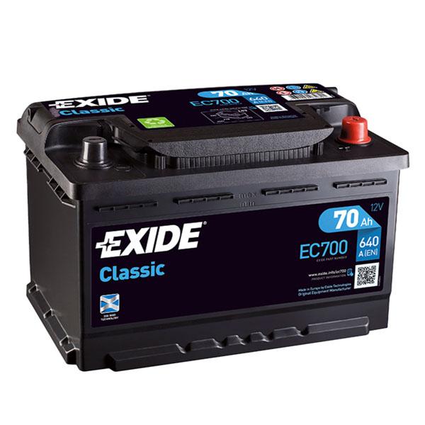 70AH EXIDE CLASSIC