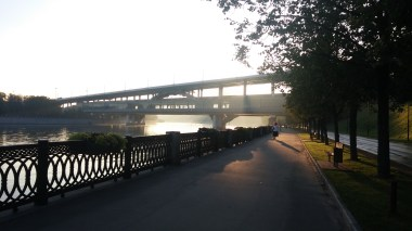 Sun coming up near Gory Station