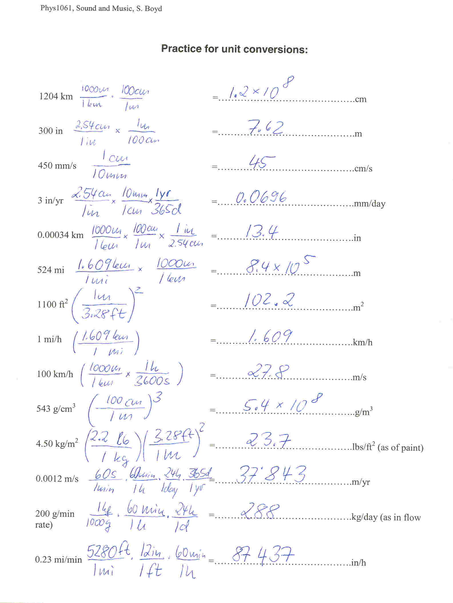 Pressure Conversion Worksheet
