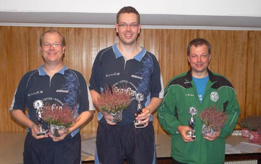 Beste Einzelkegler v. l. Henrik Kiehn (936 Holz), Jan Stender (944 Holz), Carsten Bryde (935 Holz)