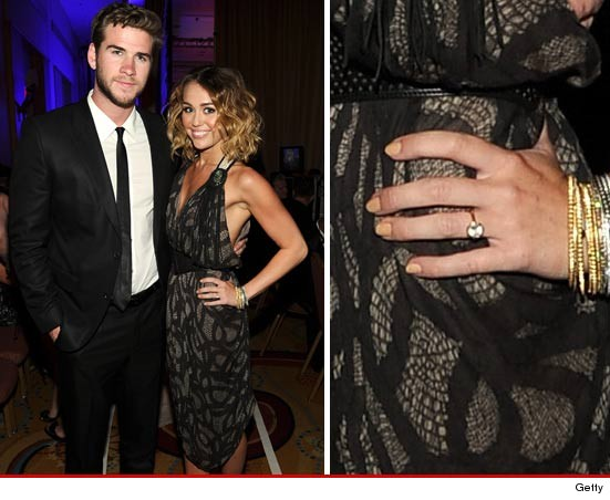 Miley Cyrus engagement ring?