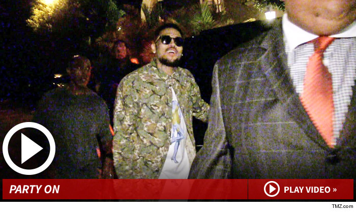 Chris Brown Partying