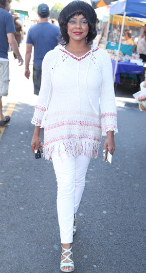 Lark Voorhies Spotted At Farmers Market In LA See The