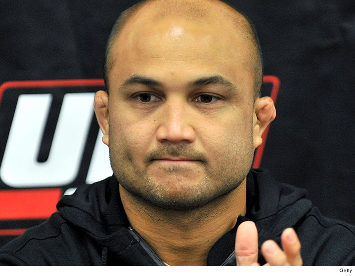 It's not anywhere near BJ Penn's ears, but I have a feeling it will be.