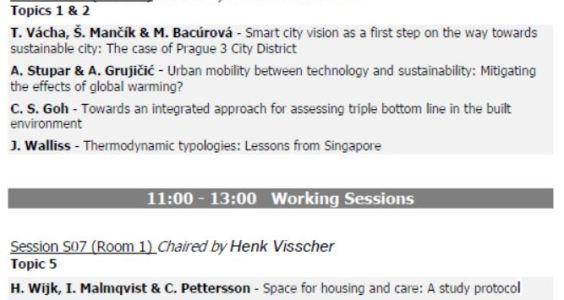 "Presentación en el ""International Conference of Advances on Sustainable Cities and Building Development"""