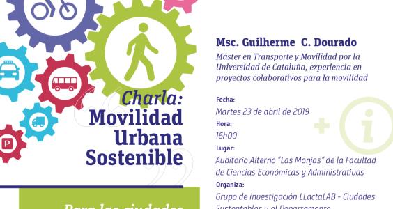 """Invitación a charla: """"Movilidad Sostenible para las ciudades del siglo XXI"""""""