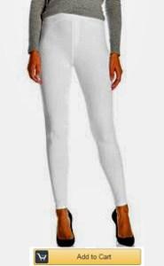 White stretch leggings