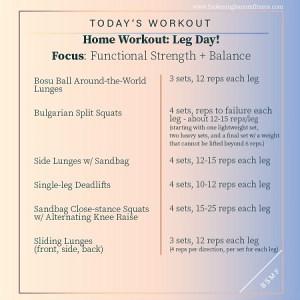 Home Workout: Leg Day