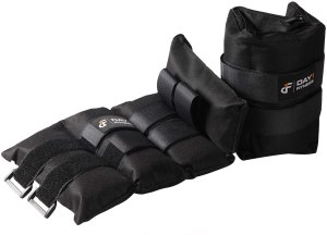 Adjustable ankle weights for at home workouts