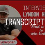 Lyndon Hepner Interview