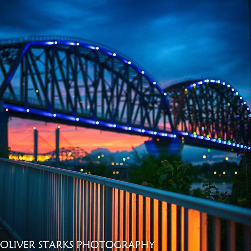 Big Four Bridge Sunset square