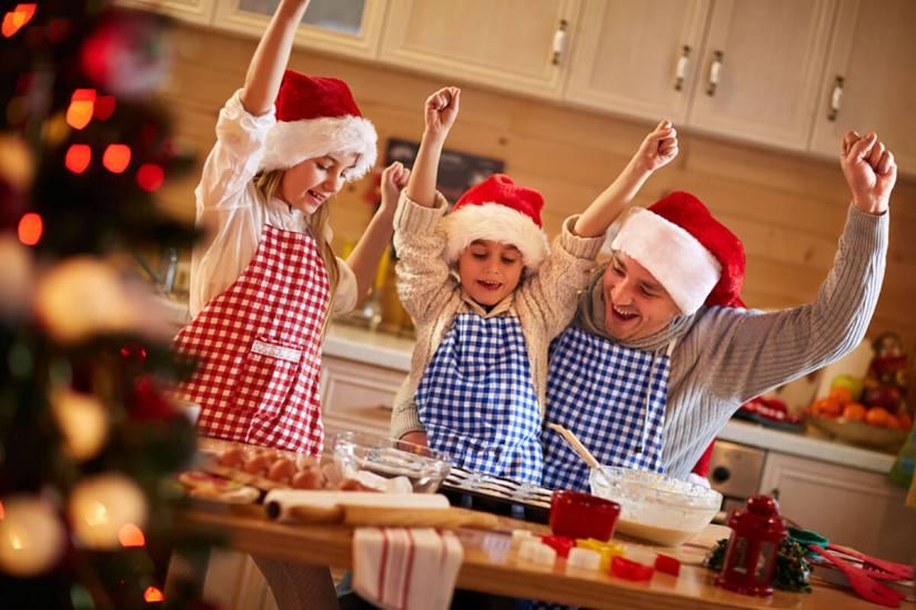 holiday family baking