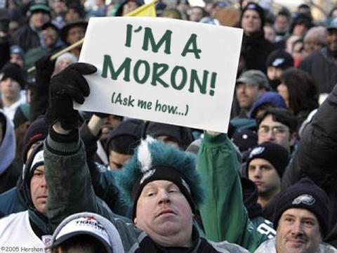 eagles fans are morons