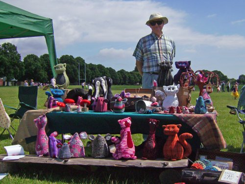 Soft toy fundraising stall