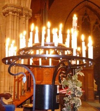 Candles in All Souls' service
