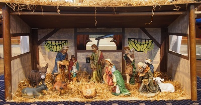 Crib scene for Epiphany