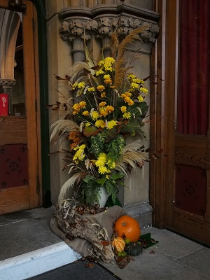 Harvest flowers at Holy Trinity