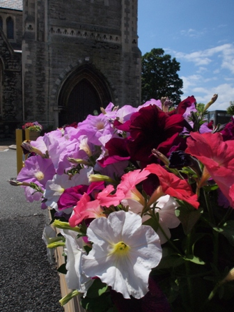 Flowers at Holy trinity.
