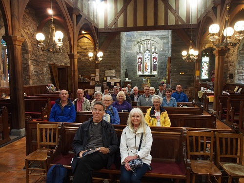 Pilgrims at Maentwrog Church