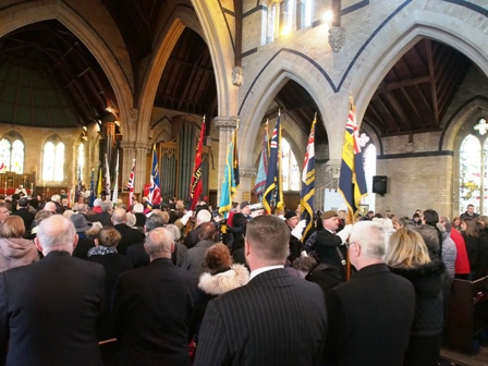 Remembrance Sunday service.