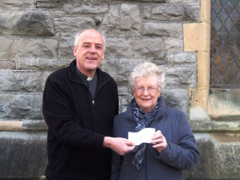 Cheque presentation to Ty Gobaith