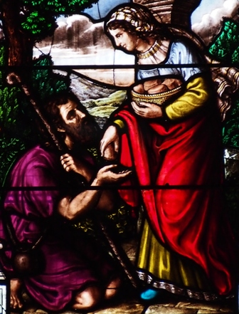 Detail from stained glass window