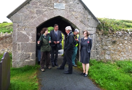 Wales in Bloom judge visiting St. Tudno's.