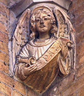 Stone angel carving