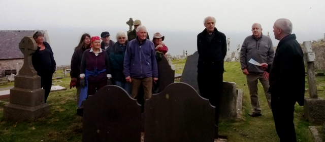 Archdeacon launches the churchyard tour
