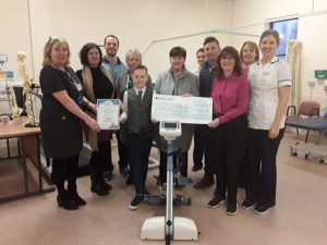 Annmarie donates £9200 to Physiotherapy Services at Prince Philip Hospital