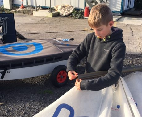 Llangorse sailor awarded new boat by John Merrick's Trust!