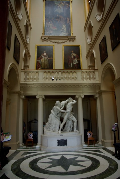 Entrance Hall with Statue