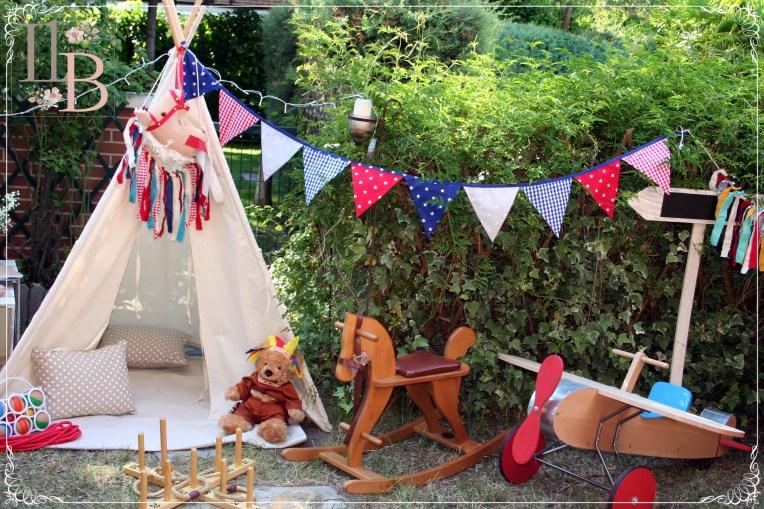 Fiestas infantiles personalizadas en Kalender DIY Party. Fiestas Pijamas. Fiestas con tipis.