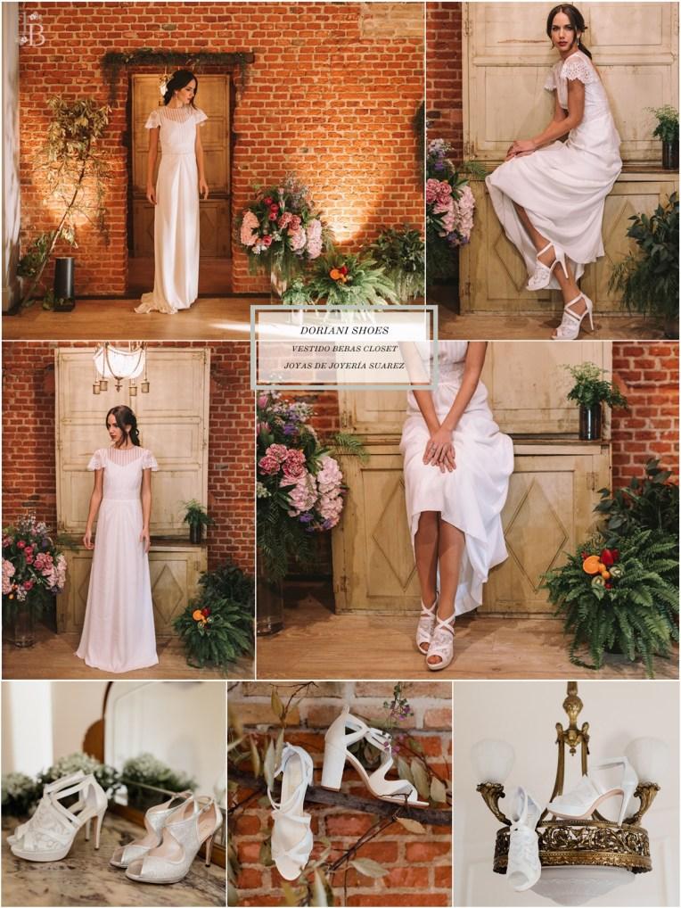 Intemporel, nueva colección Doriani Shoes con vestido de Bebas Closet. Post Llega mi Boda