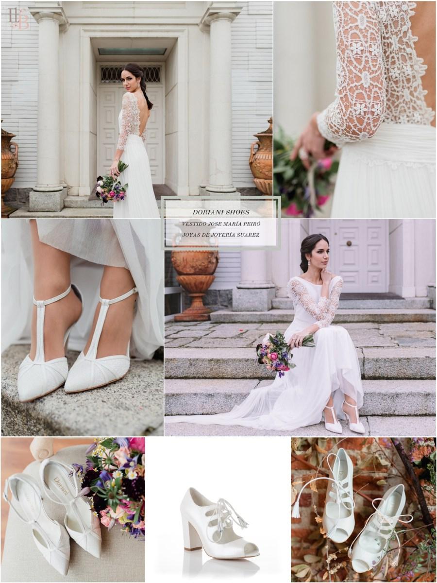 Intemporel, nueva colección Doriani Shoes con vestido de Jose María Peiró. Post Llega mi Boda