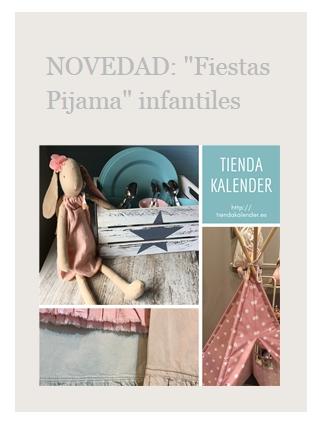 Fiestas Pijama infantiles. Tienda Kalender. http://tiendakalender.es/