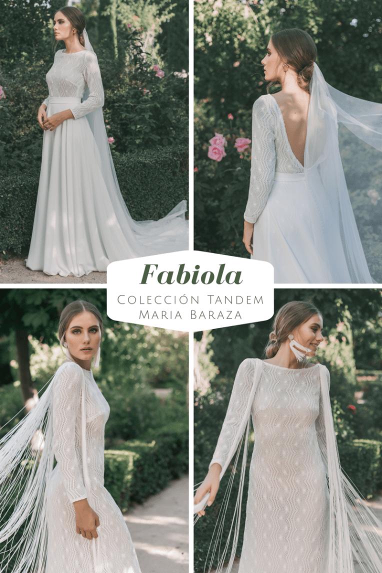 T Á N D E M, la nueva colección de María Baraza by llega mi boda. Fabiola