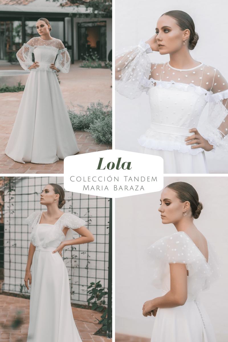 T Á N D E M, la nueva colección de María Baraza by llega mi boda. Lola