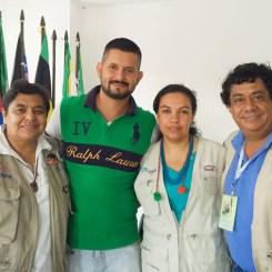 Alma Montoya, Hernando Benavides, Sandra Rojas y Henry Gamba