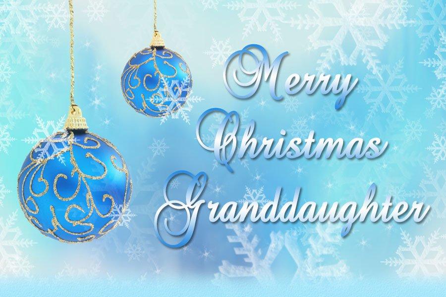 Merry Christmas Granddaughter