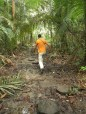 Leandro walking on the Montagne des Singes