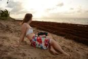 Lore at the beach in Yalimapo