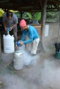 Refilling the nitrogen bottles