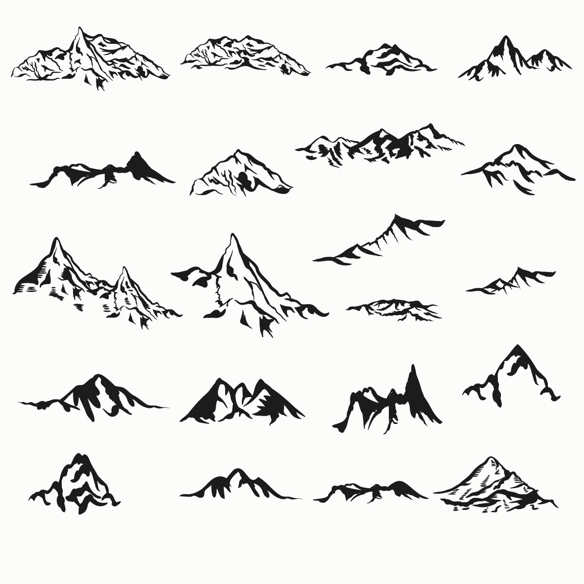 Mountain Pack Ai Vector