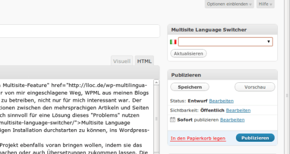 Multisite Language Switcher 0.1